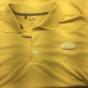 Men's adidas golf shirt yellow medium
